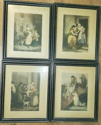 Cries Of London - 4 Vintage Framed Prints - Cries Of London - 11  X 9  • 24.99£