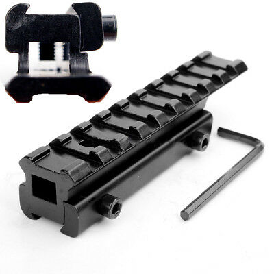 11mm To Picatinny 20mm Rail Adapter Mount 100mm Extend Dovetail Scope Mount -UK • 8.89£