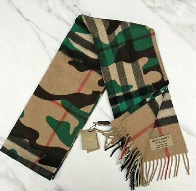 Burberry Camo Scarf With Giant Check Pattern  • 200£