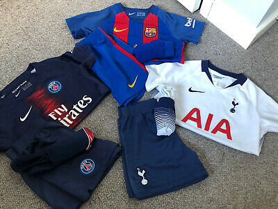 Fab Football Kit Strip Bundle Age 4-5 Barcelona PSG Tottenham Hotspur/Spurs • 23£