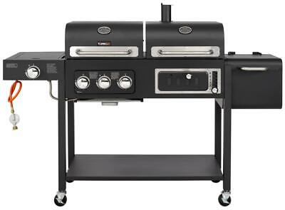 Cosmogrill New Large HERO DUO Gasgrill + Smoker BBQ For Outdoor • 249.99£