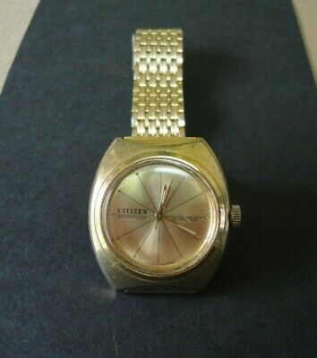 Citizen Waterproof 21 Jewel Gold Plated Watch Vintage 4-020529 C • 31£