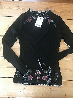 Desigual Top Black With Flower Print And Embroidery  • 3.50£