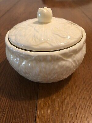 £4.50 • Buy Vintage Lettuce Leaf Lidded Sugar Bowl