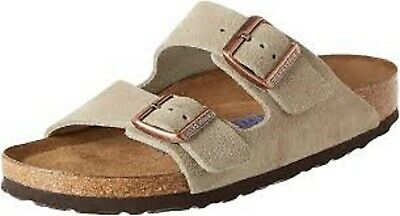 Birkenstock ARIZONA Suede Leather  Womens Sandals Taupe Narrow Fit • 75£