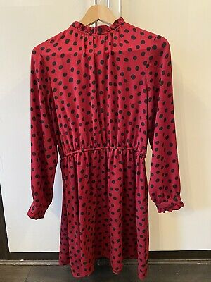 Red And Black Polka Dot Dress Size 12 • 3£