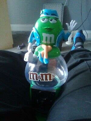 Large M&M Sweet Dispenser With A Lady Air Hostess On Top. Box 14  • 1£