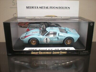 Shelby Collectibles Shelby 411 Ford Gt 40 Mk11 Le Mans 1966 #1 Ken Miles 1:18 • 74£