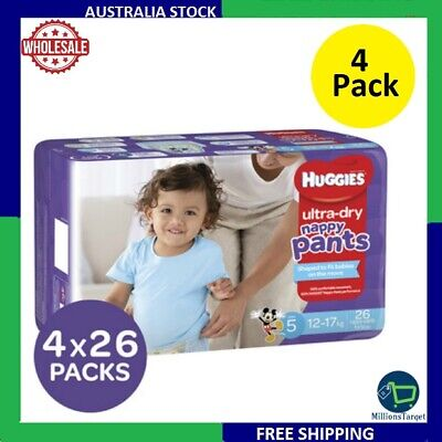 AU74.99 • Buy Huggies Ultra Dry Nappy Pants For Boys 9-14 Kg Size 4X29 Pack Free Shipping