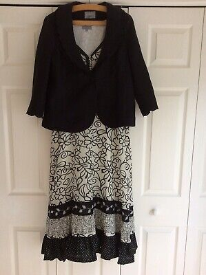 Womens Dress And Jacket Size 16 Dress, Size 14 Jacket  • 10£