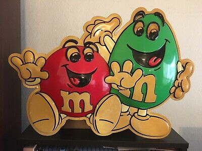 $125 • Buy M&Ms 3D Display Green And Red Vintage Plastic 1995 Used Mars Brand Rare