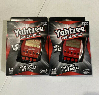AU21.19 • Buy (2) Yahtzee Electronic This Is How We Roll Hasbro Battery Travel Hand Held Game