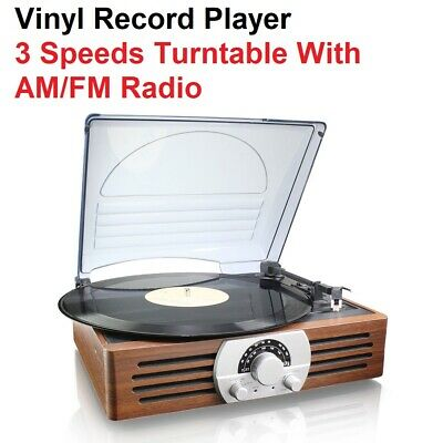 AU63.40 • Buy Thomson Vinyl Record Player 3-Speed Turntable AM/FM Radio Built-In Stereo Music