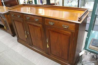 AU896.25 • Buy A Large Edwardian Sideboard Buffet With Gallery Top