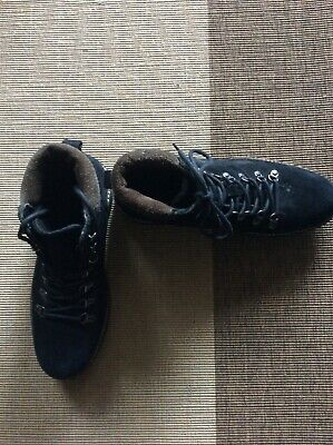 Red Herring Comet Hiking Black Suede Boots, Size 8 • 10£