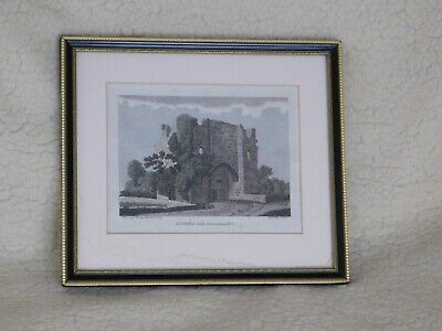 £40 • Buy 18th Century Hand-Coloured Engraving Of Llanblethan Castle, Glamorganshire