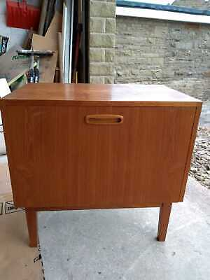 Vintage Retro 1960s Vinyl Record Storage Unit On Legs • 70£
