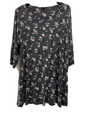 Womens EVANS Longline Tunic Dress/Top Size 22/24 Grey • 1.99£