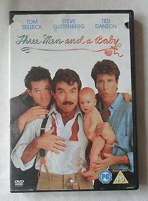 Tom Selleck...THREE MEN AND A BABY...Region 2 DVD • 1£