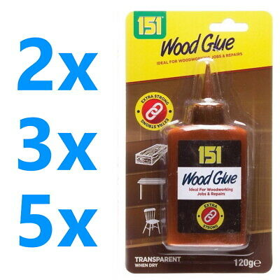 £5.35 • Buy Wood Glue Clear Water Resistant Fix Fast Extra Strong Bond Non Foaming Adhesive