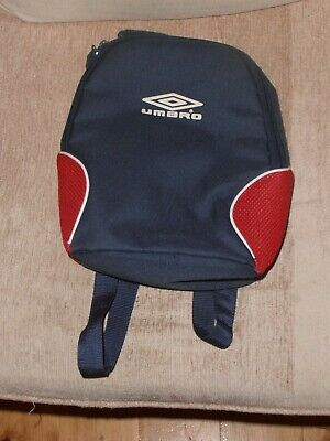 Umbro Rucksack With Carry Handle And Compartment, Blue & Red 27 Cms X 25 Wide. • 3.99£