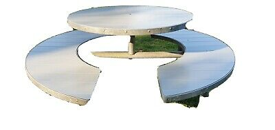 8 Seater Commercial Metal Framed Round Picnic Table • 100£