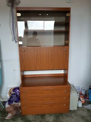 SCHREiBER Retro Teak Display/ Drinks Cabinet • 4.99£
