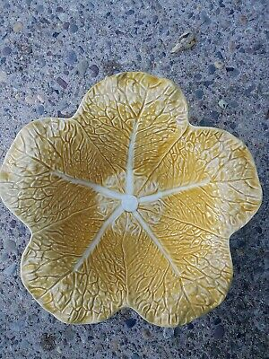 £34.78 • Buy Bordallo Pinheiro Serving Bowl Cabbage Gold Yellow Leaf