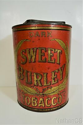 Antique SWEET BURLEY DARK Large Tobacco Tin  • 111.57£
