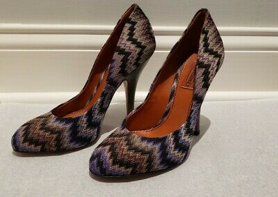 £47.29 • Buy Missoni Rashel Snake Heel Shoe 38 Violet Made In Italy Perfect Condition
