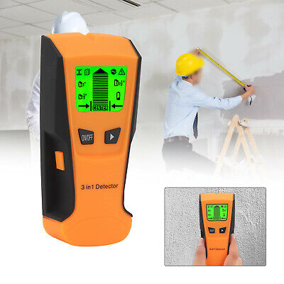 £12.89 • Buy LCD Wall Stud Center Finder Metal Live Wire Detector Wood Copper Scanner 3 In 1