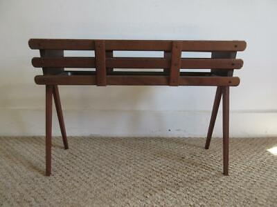 Lovely Vintage Retro 60's/70's Wood/ Wooden Planter/ Trough/ Plant Stand On Legs • 85£