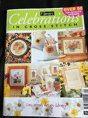 Cross Stitch Charts Booklet- Flowers, Celebrations In Cross Stitch. • 1.50£