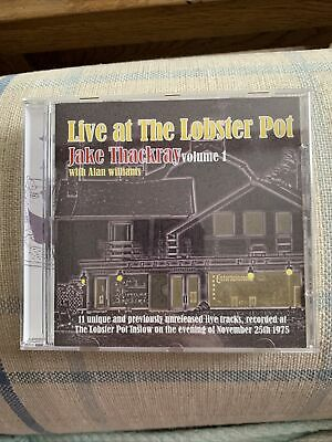 Rare! JAKE THACKRAY Live At The Lobster Pot Vol 1 CD With Alan Williams 1975 • 25£