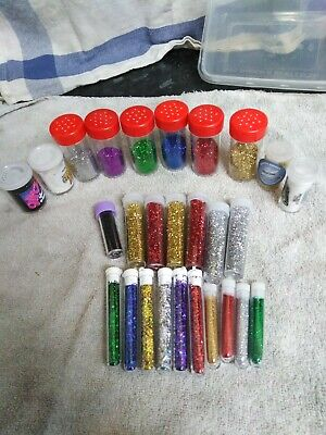 Job Lot Of Glitter For Card Making  Scrap Booking  Kids Crafting Craft • 5£