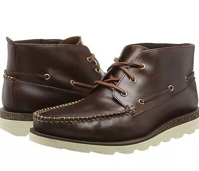 Stunning CLARKS Mens Dakin Deck Brown Leather Ankle Boots Shoe 10G 44.5 BNWT • 54.99£