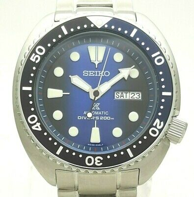 $ CDN74.73 • Buy Seiko Prospex Turtle Scuba Diver's Cal 4R36 CUSTOM MOD Automatic Men Diver Watch