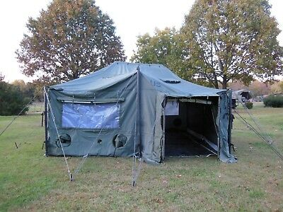 $995 • Buy US MILITARY SURPLUS 18x18 MGPTS TENT HUNTING CAMP ARMY TRUCK TRAILER---NO FLOOR