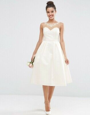AU35 • Buy Bridal Crystal Sweetheart Midi Prom Dress ASOS, Brand New, Never Worn