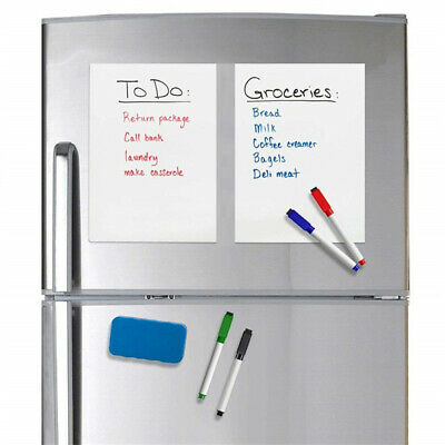 AU6.93 • Buy BL_ 5 Dry Wipe Magnetic Fridge Whiteboard Home Notice Memo Message Board With 3