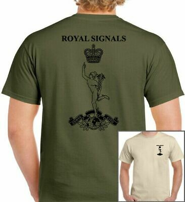 Royal Corps Of Signals Cap Badge British Army Military Army Scaleys TEE TOP • 8.99£
