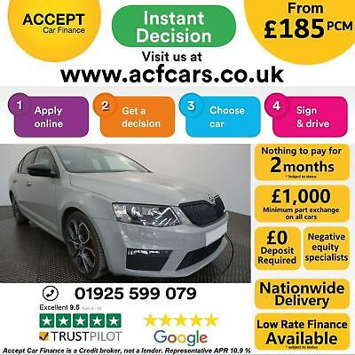 2016 Grey Skoda Octavia Vrs 2.0 Tdi 184 Diesel Manual Car Finance Fr £185 Pcm • 10,490£