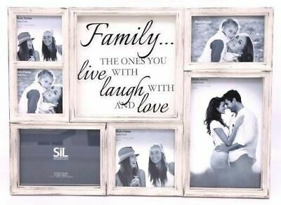 £21.49 • Buy Shabby Chic White Family Multi Photo Frame Picture Stand Home Decor