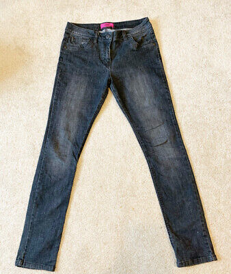 Womens Black Skinny Jeans Size 10 Tall Trousers  • 4.50£