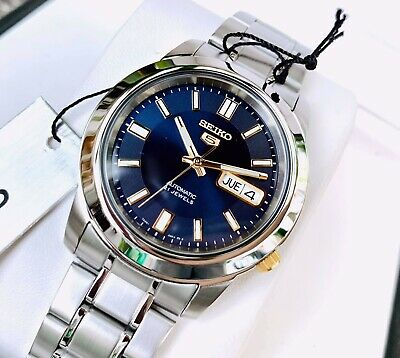 $ CDN190.11 • Buy Seiko 5 Automatic Blue Dial Silver Stainless Steel SNKK11K1 Mens Watch