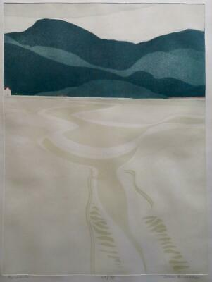 JOHN BRUNSDON (1933-2014) Limited Edition Pencil Signed Etching BARMOUTH WALES • 41.75£