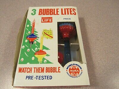 $ CDN26.72 • Buy Replacement Pack Of 3 Vintage Christmas NOMA Bubble Lights Bulbs C6