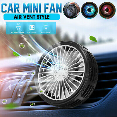 AU16.99 • Buy USB Car Fan Cooling Cooler 3 Speed Air Vent Clip On W/ LED Light Aromatherapy AU