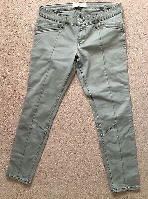 HOLLISTER KHAKI SUPER SKINNY CROPPED TROUSERS SIZE 15 W32 • 5.99£