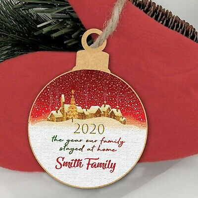 Christmas Year Of The Family Lockdown Personalised Tree Decoration Bauble Gift • 2.99£